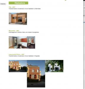 Création site web cabinet architecture