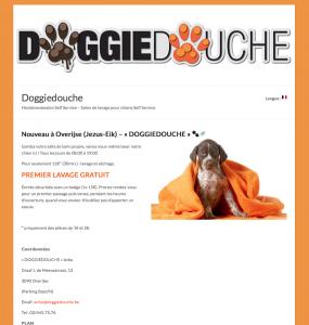 Création site web site toilettage pour chiens