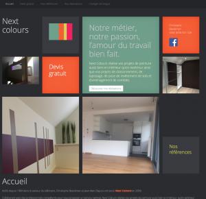 Création site web décorateurs intérieur Nextcolours
