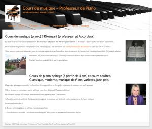 Création site web Véronique Etienne professeur de piano